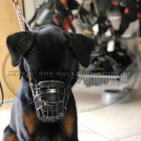 Basket Dog Muzzle, covered by black rubber for Rottweiler