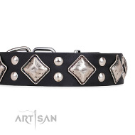 "Attraktives FDT Artisan Lederhalsband ""Smart Geometry"""