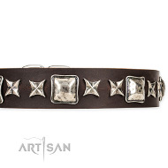 "Lederhalsband ""Perfect Impression"" braun on Artisan FDT"
