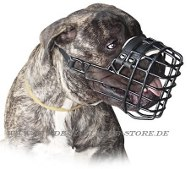 Basket Dog Muzzle, covered by black rubber for Bullmastiff