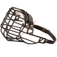 Wire Basket Dog Muzzle, covered with black rubber