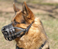 Muzzle for German Shepherd, Leather Dog Muzzle Padded