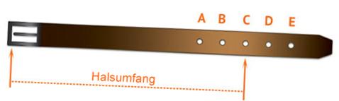 Auswahl von Halsband Groesse