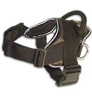 Nylon K9 dog harness for tracking or pulling
