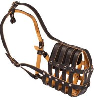 Muzzle Leather Padded with Nappa | Dog's Muzzle Individually!