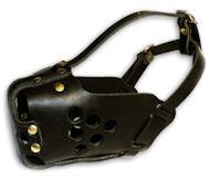 Hetz- Hundemaulkorb aus Leder