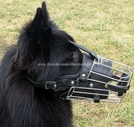 Wire Basket Muzzle for Malinois | Padded Cage Muzzle for Mali