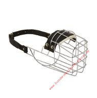 Wire Large Basket Dog Muzzle for Dobermann Pinscher