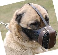 Maulkorb Leder | Kaukasischer Schäferhund | Owtscharka