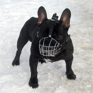 Wire Basket Dog Muzzle for French Bulldog, Cage Muzzle