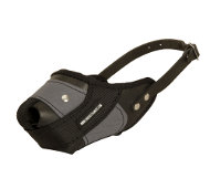 Muzzle for Dogs of Leather with Nylon, Closed Dog Muzzle