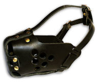 Medium dogs leather Dog Muzzle for agitation work and training
