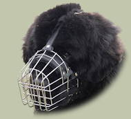 Newfoundland Wire Muzzle for dog with broad snout
