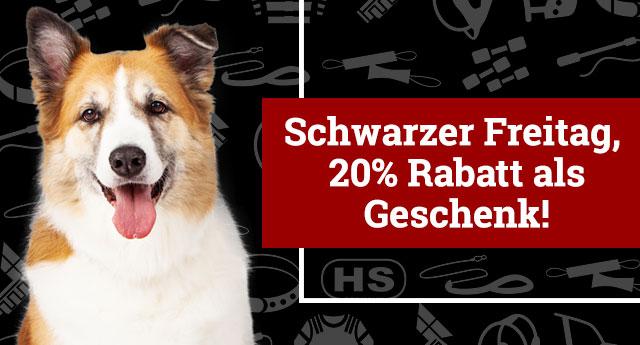Hundeshop Rabatt 20 zum Black Friday