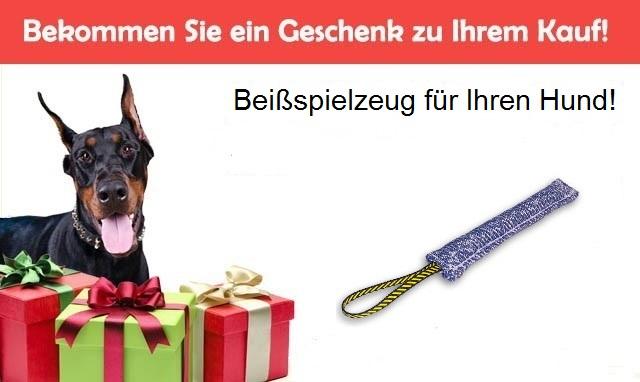 Geschenk zur Bestellung Kurze Beisswurst mit Schalufe für Welpen