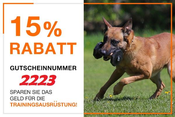 15% Rabatt auf alle Beißwürste und Beisskissen für Training und Spielen