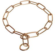 Herm Sprenger chain choke dog collar made of brass