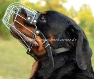 Rottweiler Wire Basket dog muzzle
