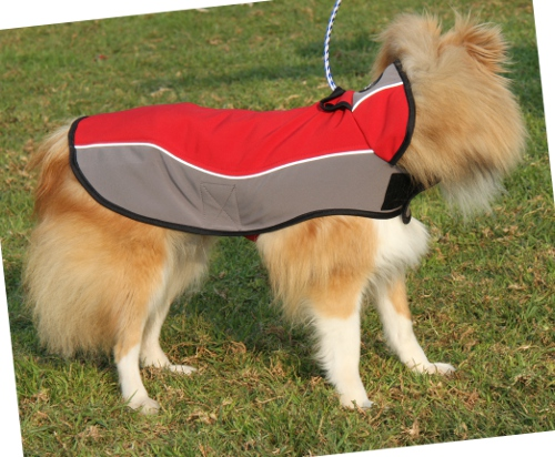 Sheltie Hundemantel mit Fleece fuer Winter