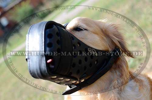 K9 Maulkorb aus Leder für Diensthunde