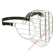 Wire Large Basket Dog Muzzle for Rottweiler