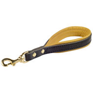 Short dog leash with handle