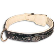 Exclusive Braided Nappa Padded Handmade Leather Dog Collar